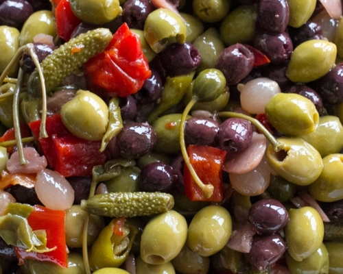 Pitted Andalou Olive Antipasti Mix