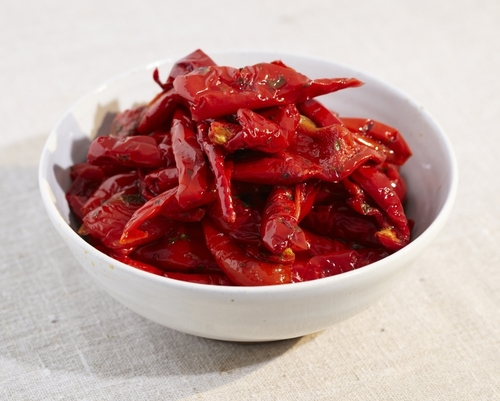 Semi Dried Red Peppers in Oil
