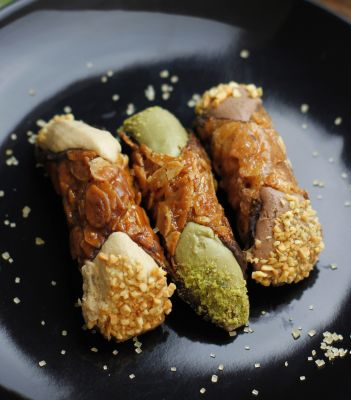 Sicilian Artisan Pastries - New Exciting Indulgent Products! Gluten Free Cannoli - Pistachio